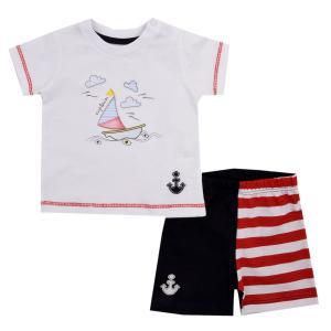 Комплект футболка/шорты , цвет: красный Kidaxi