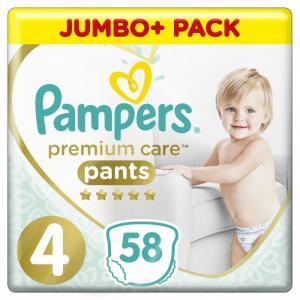 Подгузники-трусики Premium Care Maxi р.4 (9-15 кг) 58 шт. Pampers