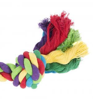 Игрушка для собак  Канат с 2-мя узлами, цвет: разноцветный, 285г*40см I.P.T.S.