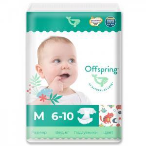 Эко-подгузники Котики размер M (6-10 кг) 42 шт. Offspring
