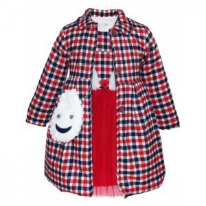 Комплект для девочки (пальто, платье, сумка) 3229 Baby Rose