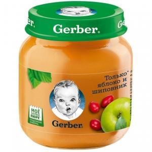 Пюре  яблоко-шиповник с 5 месяцев, 130 г Gerber