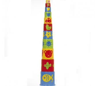 Развивающая игрушка  Ведерко-пирамидка 11 предметов Gowi