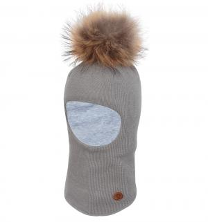 Шапка-шлем  Venla, цвет: серый Nels
