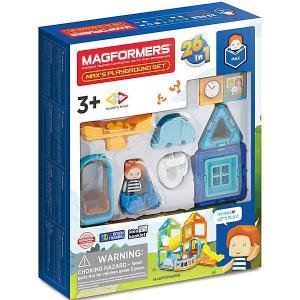 Магнитный конструктор  Maxs Playground Set, 33 элемента MAGFORMERS