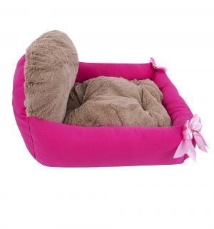 Лежанка для кошек  Валенсия, цвет: розовая фуксия, 55*50*25см Зоогурман