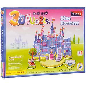 3D пазлы  Голубой замок, 38 деталей Funny