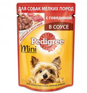 Корм влажный  для взрослых собак мелких пород, говядина, 85г Pedigree