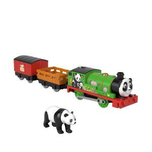 Моторизированный паровозик  Трек-мастер Percy Panda с маской животного Thomas & Friends