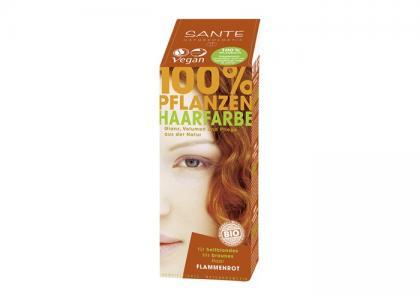 Растительная краска для волос Огненно-рыжий 100 г Sante