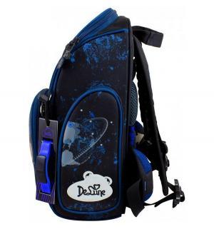 Ранец школьный  с мешком и часами 28х13х37 см De Lune