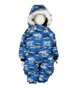 Комбинезон зимний для мальчика (синий принт) Rasavil. Цвет: синий