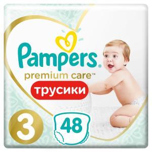 Трусики-подгузники  Premium Care Pants, р. 3, 6-11 кг, 48 шт Pampers