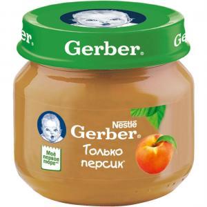 Пюре  персик с 4 месяцев, 80 г Gerber