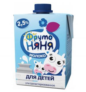 Молоко  ультрапастеризованное 500 мл ФрутоНяня