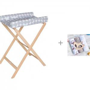 Пеленальный столик  Trixi с пеленкой Mjolk Palm 120х85 см Geuther