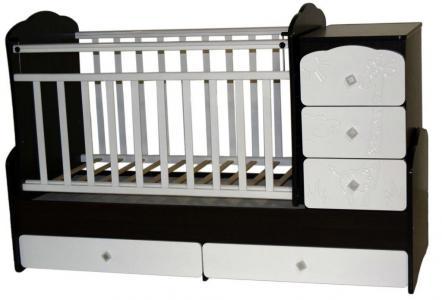Кровать-трансформер  Ульяна 1 Жираф, цвет: венге/белый Антел