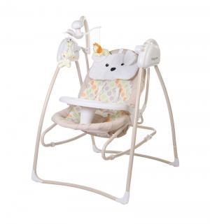 Электрокачели BabyCare Butterfly 2 в 1 с адаптером, цвет: Beige Baby Care