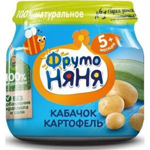 Пюре  картофель-кабачок с 5 месяцев, 80 г ФрутоНяня