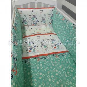 Комплект в кроватку  с классическим бортом (6 предметов) ByTwinz