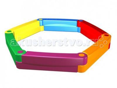 Пластиковая песочница из 6-ти элементов 2Kids