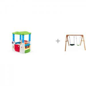 Игровой домик Весёлые шары и качели Можга (Красная Звезда) деревянные Step 2
