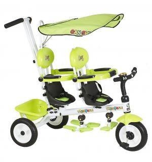 Велосипед трехколесный  Cosmic Zoo Twins, цвет: зеленый Small Rider