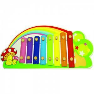 Музыкальный инструмент  Ксилофон Радуга QiQu Wooden Toy Factory