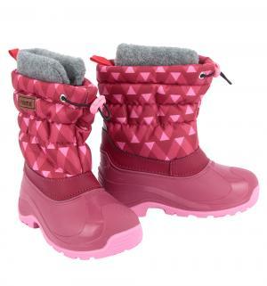 Сноубутсы  Ivalo, цвет: розовый Reima