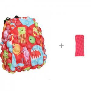 Рюкзак Bubble Half Monsters Under the Red 36 см с пеналом-сумочкой Zipit Neon Pouch MadPax
