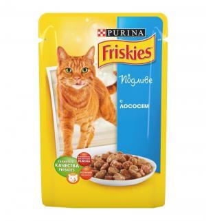 Корм влажный  для взрослых кошек, лосось, 100г Friskies