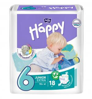 Подгузники  Baby Happy Junior Extra 6 (от 16 кг) 18 шт. Bella