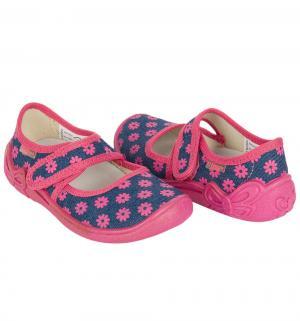 Туфли текстильные , цвет: синий/фуксия El Tempo