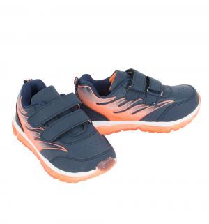 Кроссовки , цвет: синий/оранжевый Отличник