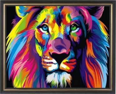 Картина со стразами Радужный лев Color Kit