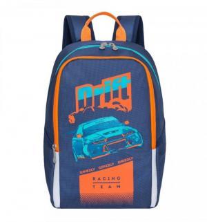 Рюкзак школьный  цвет: синий 29х38х17 см Grizzly