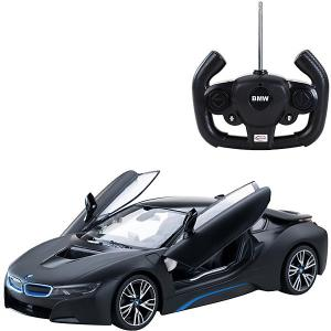 Радиоуправляемая машина  BMW i8 1:14, чёрная матовая Rastar. Цвет: черный