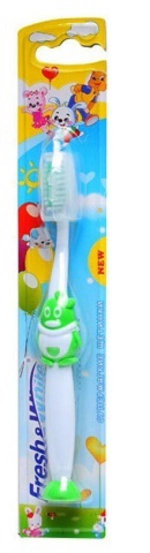 Зубная щетка  kids Lili, цвет: зеленый Fresh&White