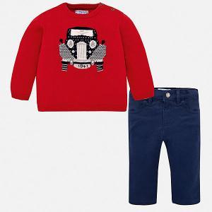 Комплект : джемпер и брюки Mayoral. Цвет: красный