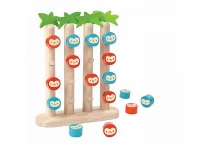 Деревянная игрушка  Четыре обезьянки в ряд Plan Toys