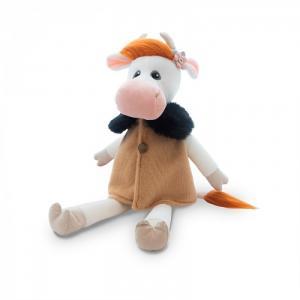 Мягкая игрушка  Коровка Глаша в бежевом пальто 28 см Maxitoys