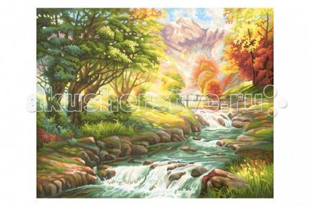 Картина по номерам Горная река 40х50 см Schipper