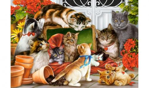 Пазлы Кошки-мышки Castorland