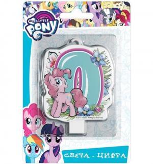Фигурная свеча-цифра  № 0 8 см My Little Pony