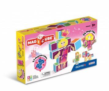 Конструктор  магнитный MagiCube Принцессы (35 деталей) Geomag