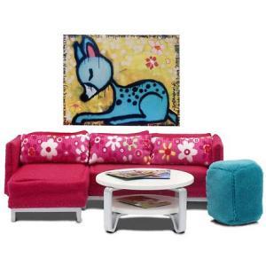 Мебель для домика  Стокгольм Гостиная Lundby. Цвет: разноцветный