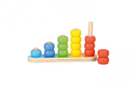Деревянная игрушка  Обучающая пирамидка Bino