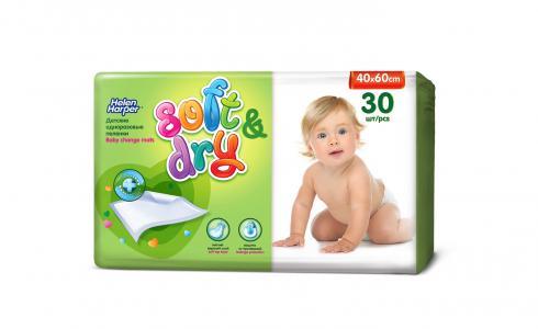 Детские пеленки  Soft&Dry 40х60 см, 30 шт Helen Harper