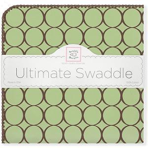 Фланелевая пеленка  Lime, 110х110 см SwaddleDesigns. Цвет: зеленый