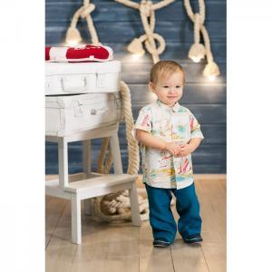 Рубашка для мальчика короткий рукав Морская Frizzzy